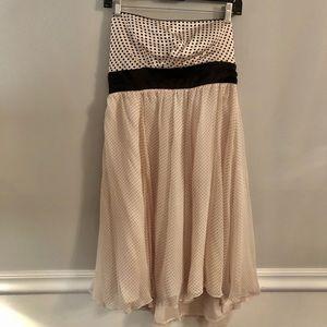 NWT! Bebe Pink Polka Dot Silk Satin Dress